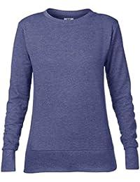 Anvil women's mid-scoop French terry sweatshirt
