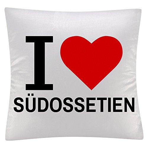 Kissen Classic I Love Südossetien weiß