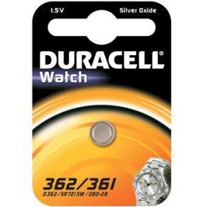 Duracell 936861 silver-oxide 1.5 V non-rechargeable battery - non-rechargeable Batteries (silver-oxide, Button/coin, 1,5 V, SR58, plaquette thermoformée)