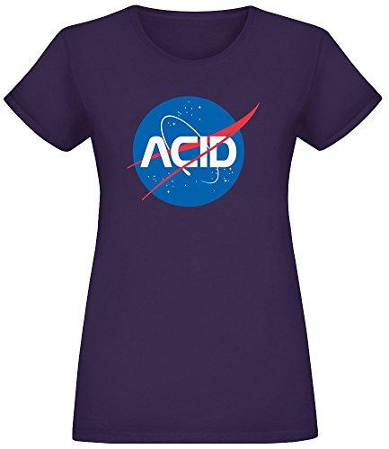 Acid Logo - Acid Logo T-Shirt Top Short Sleeve Jersey for Women 100% Soft Cotton Womens Clothing Large -