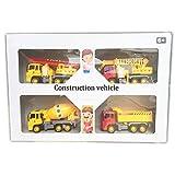 Simulazione dei Bambini 1:24 Inertia Engineering Truck Ladder Truck Mixer Truck Gru di carico e Scarico Truck 4-in-1 Suit