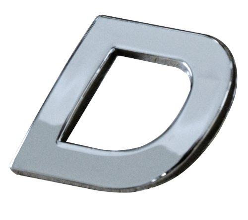 Cora 000115004 Lettera D, Adesiva, Cromata, Tridimensionale