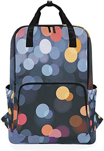 Bunter Tupfen-Punkt-Neonrucksack-Schulreise-Tagesrucksack-Laptop-Hochschulbookbag 14 Zoll-Doktor Bag -