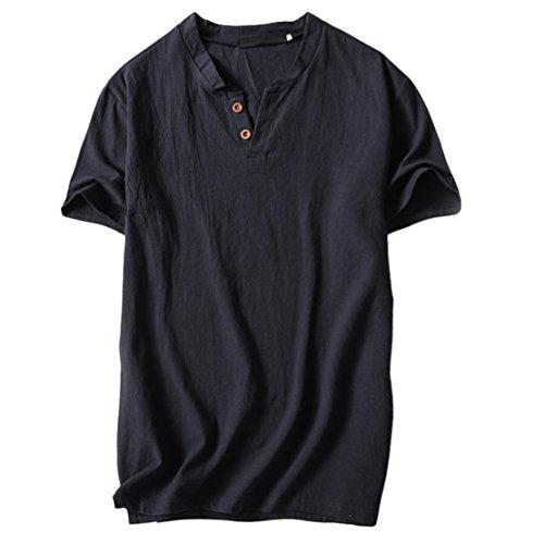 Bluestercool t shirt uomo tinta unita cotone magliette estate casual
