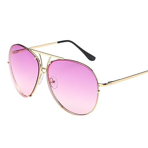 YEZIJINWomen Herren Übergroße Sonnenbrille flach oben groß Luxus verspiegelt Free Size J