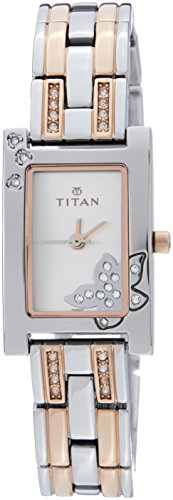 Titan Purple - Glam Gold Analog Silver Dial Women's Watch - 9716KM01J image