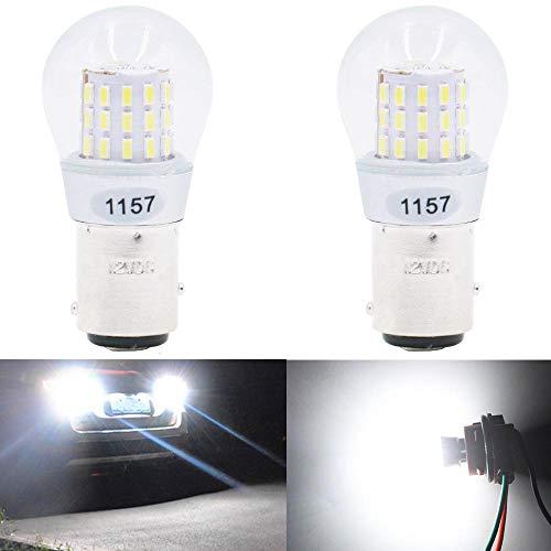 JAVR Lot de 2 ampoules de rechange pour intérieur RV Camper Tail Back Up Intérieur Ampoules de recul Blanc 1157 BAY15D 2057 2357 7528