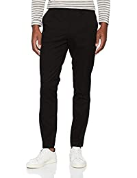 SELECTED HOMME Herren Hose Shdslim-Mathcot Black Trouser Sts