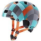 uvex Unisex Jugend, kid 3 cc Fahrradhelm, green checkered, 51-55 cm