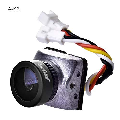Kongqiabona Runcam Racer Nano 700TVL Lente conmutable de 1.8 mm / 2.1 mm Cámara FPV más pequeña OSD Integrado de Baja latencia para FPV RC Drone