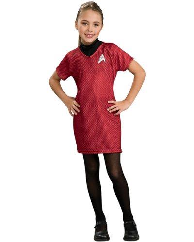 Star Trek Uhura Kleid für Mädchen - M - 127-137cm (Uhura Kostüm Zubehör)