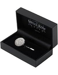 Savile Row Men's Lucky Sixpence Lapel Pin
