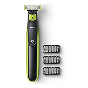 Philips QP2520/25 OneBlade with 3x stubble combs in Lime Green and Charcoal Grey