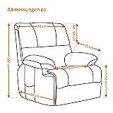 MACOShopde by MACO Möbel Fernsehsessel mit elektrischer Aufstehhilfe über Fernbedienung mit 2 Motoren aus Mikrofaser grau - 5