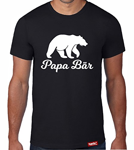 HARIZ  Papa: Original Collection T-Shirt//36 Designs Wählbar//Schwarz, S-XXL//INKL. Urkunde, Top Geschenk #Papa03: Papa Bär