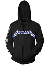 Officielle Metallica – Ride The Lightning – Noir Sweat à capuche zippé