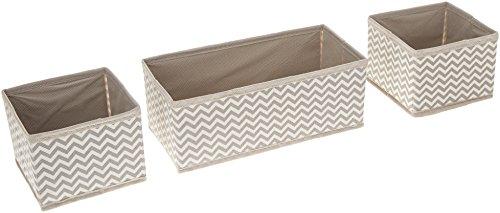 mDesign Aufbewahrungsboxen aus Stoff im 12er Set – Stoffbox in zwei Größen für Wäsche, Windeln, Tücher, Accessoires etc. – flexible Aufbewahrungskiste für den Schrank oder Schublade – taupe  (Schrank Korb)