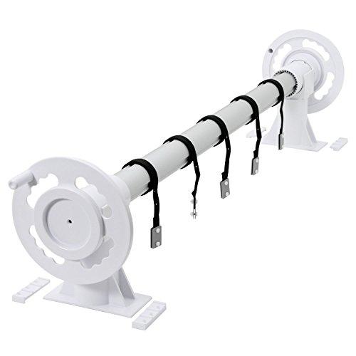 Zelsius - Aluminium Aufrollsystem, für Solar und Pool Planen und Abdeckungen von 300 bis 570 cm, Above ground Poolaufroller