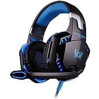 [L'ultima Versione Cuffie Gaming per PS4] KingTop EACH G2000 Cuffie da Gioco con Microfono Stereo Bass LED Luce Regolatore di Volume per PS4 PC Cellulari