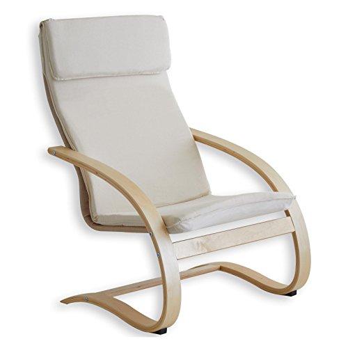 Relaxsessel Schwingsessel Freischwinger Entspannungssessel ANNA in beige Neu