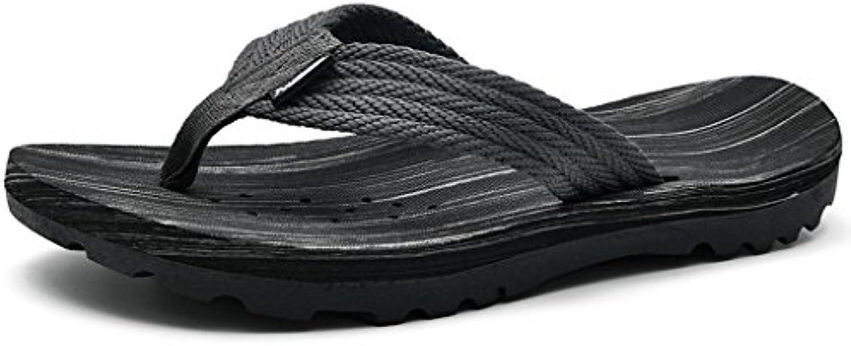 DUWEN NEUE Männer Zehenpfosten Frauen Pool Strand Pantoffel Wasserdicht Rutschfeste Schuhe (Farbe : Schwarz  größe