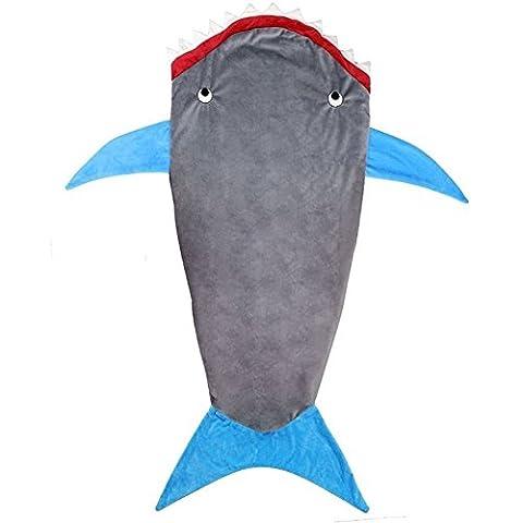 nykkola Couverture Shark queue douce flanelle Requin Couverture Lit snuggle-in Sac de couchage Costume Robe fancy Canapé pour enfant pour adultes, 100*150cm