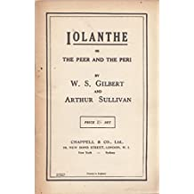 Iolanthe Or the Peer and the Peri (words only)