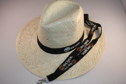 bacardi-sombrero-de-paja-sombrero-panama-llave-de-banda