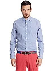 Hackett London Geo Print - Camisa para hombre