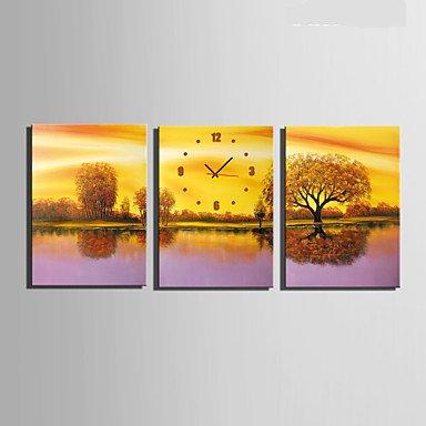 Y & M moderne/contemporain autres Horloge murale, rectangulaire tela35 x 50 cm (14inchx20inch) x3pcs/40 x 60 cm (16inchx24inch) x3pcs/50 x 28\