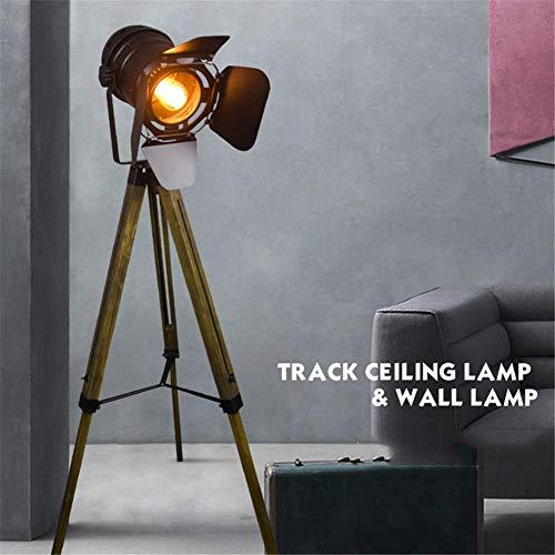 OOFAYWFD Stehlampe,standleuchte- Hölzerne Leuchten des industriellen Dekor, Film-Requisiten