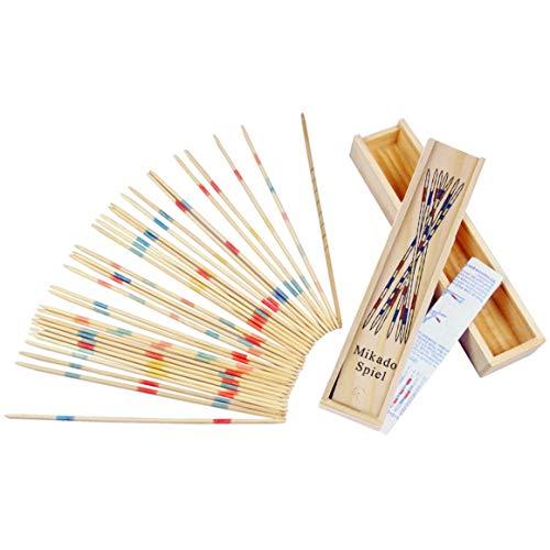 Funnyrunstore Baby Educational Holz Traditionell Mikado Spiel Pick Up Sticks Werkzeug Mit Box Spiel Entwicklung Mathematik Fähigkeit (Mehrfarbig)