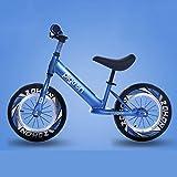SZHSM Automobile dell'equilibrio della Bicicletta Senza Pedali della Bicicletta di Alluminio della Lega di Alluminio 2-3-6 Anni (Colore : Blu)