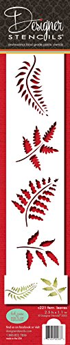 Designer Schablonen C221Farn Blätter Kuchen Schablone, beige/Halbtransparent -