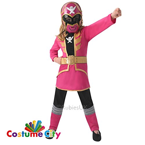 Rubie's 3610115 - Kostüm für Kinder - Power Ranger Classic Super Megaforce, M, - Kinder Rosa Power Ranger Kostüm