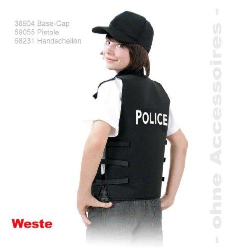 Polizei Weste Police 152 Weste schwarz 128 - -