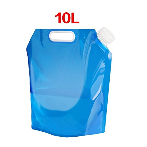 FABSELLER Zusammenklappbar Wasser Container, Blau Beständig Tragbarer, Faltbarer Wasser Bag Wasser Carrier für Faltbar Outdoor Sport Camping Wandern Picknick BBQ Auto, 1x10L -