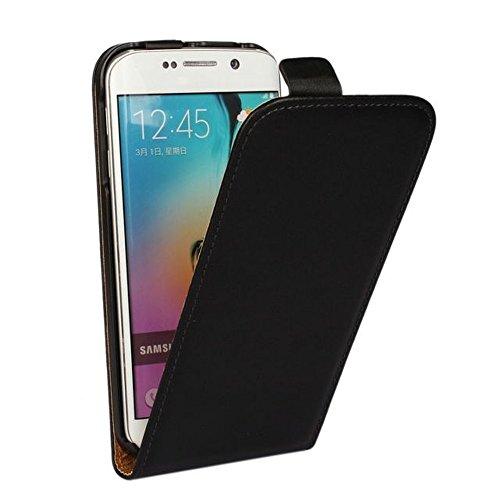 Roar Flip Case Hülle Leder für Motorola Moto G G2 (2.Generation), Handyhülle Schwarz, Tasche Handytasche Schutzhülle mit Magnet