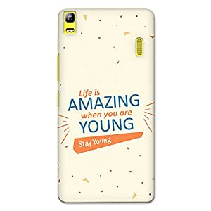 CrazyInk Premium 3D Back Cover for Lenovo K3 Note - Life is Amazing, Stay Young