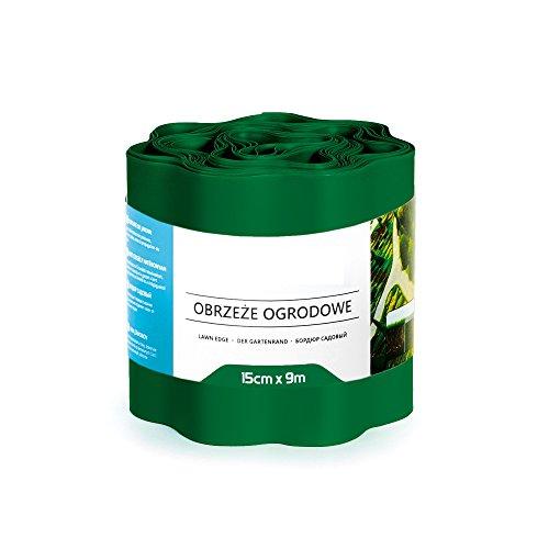 9 m Bordure bordure de gazon pelouse Bordure de plate-bande 20 cm vert foncé