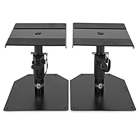 Desktop Monitor Speaker Stands by Gear4music Pair
