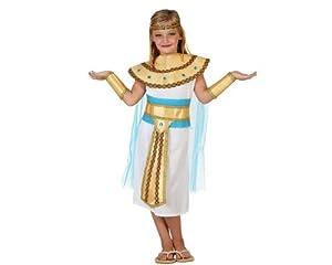 Atosa-23343 Disfraz Egipcia, Color dorado, 10 a 12 años (23343
