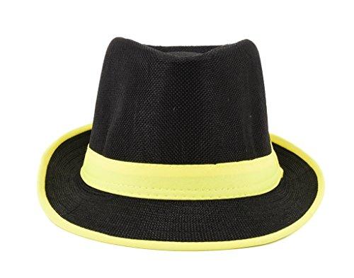 Tiekart men black & yellow hat