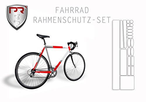 Rahmenschutz Lackschutz Set für Fahrrad Bike BMX MTB (Bogen Klein 293 x 162 mm) TRANSPARENT