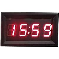 Reloj digital para tablero o salpicadero, de Hunpta, accesorio para motocicleta o coche, 12V - 24V, pantalla LED