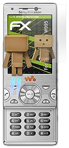 Sony-Ericsson W995 Spiegelfolie - atFoliX FX-Mirror Displayschutz Folie mit Spiegeleffekt