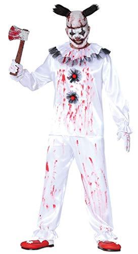 Clown Mörder Kostüm für Verkleidung Horror Halloween Mann ()