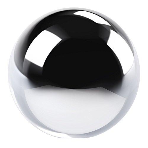 Boule, bille, balle, globe decorative en ceramique argenté 19 cm