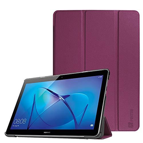 Fintie Huawei Mediapad T3 10 Hülle Case - Ultra Dünn Superleicht Flip Schutzhülle mit Zwei Einstellbarem Standfunktion für Huawei MediaPad T3 (9,6 Zoll) 24,3 cm Tablet-PC, Lila