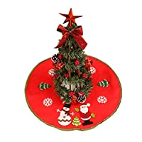 CHENPU Small Christmas Tree Skirt Base Cover Xmas Home Party Decorations